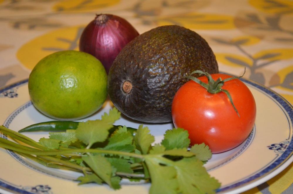 க்வாக்கமோலே  guacamole.---அவகேடோவின் ருசி. (1/6)